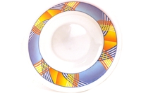 Melamine Bowl (Blue with Yellow Stripes Motive)