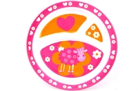 Plate for Kids with 3 Sectioned (Pink Sheep)