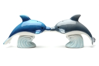 Magnetic Salt and Pepper Shaker Set (Dolphins) - 4 inch