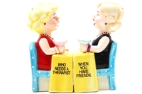 Magnetic Salt and Pepper Shaker Set (Friends) - 4 inch