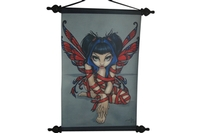 Red Ribbon Fairy Art Scroll