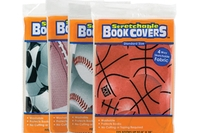 Stretchable Fabric Book Covers - Assorted Sports 8inch X 10inch
