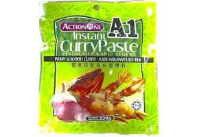 Instant Curry Paste Indian Seafood Curry (Perencah Kari Segera Kari Makanan Laut India) - 8.11oz