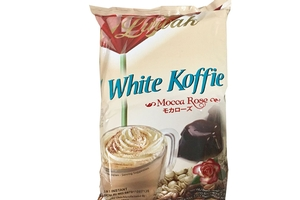 Whiite Koffie 3 in 1 Instant Coffee (Mocca Rose / 10-ct) -7oz