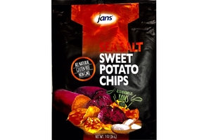 Sweet Potato Chips with Sea Salt (Yams Chips)  - 2.96oz