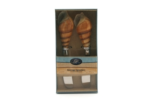 Auger Seashell Cheese Spreaders - 2 Pieces set