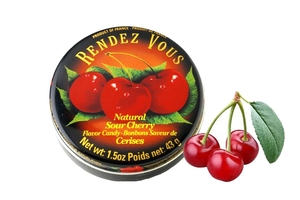 Bonbons Saveur de Cerisez (Natural Sour Cherry Flavor Candy) - 1.5oz