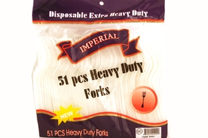 Disposable Plastic Fork (Extra Heavy Duty) - 51 Pieces
