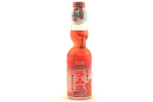 Ramune Carbonated Drink (Strawberry Flavor) - 6.76 fl oz.