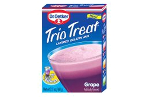 Trio Treat Grape Gelatin - 2.1oz
