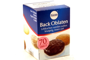 Back Oblaten (Round Wafers Papers 70mm / 100 ct) - 3oz