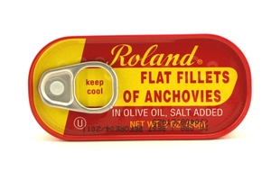 Flat Fillet of Anchovies in Olive Oil - 2oz