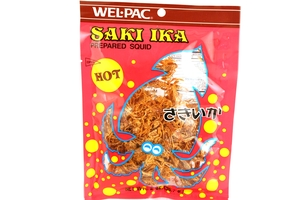Saki Ika Hot (Prepared Squid Snack - Spicy) - 2oz