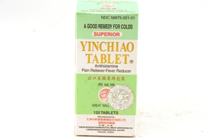 Yinchiao Tablet (Antihistamine Pain Reliever-Fever reducer)