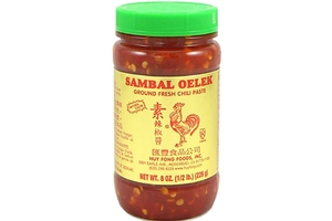 Sambal Oelek (Ground Fresh Chili Paste) - 8oz