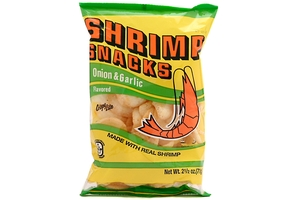 Shrimp Snacks (Onion & Garlic Flavor) - 2.5oz