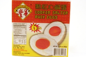Cooked Salted Duck Eggs (Ready-to-Eat/6-ct) - 12.69oz