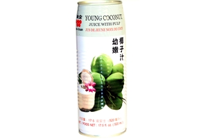 Young Coconut Juice with Pulp - 17.5fl oz