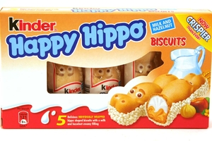 Happy Hippo Biscuits (Hazelnut Cream - 5 stick) - 3.65oz