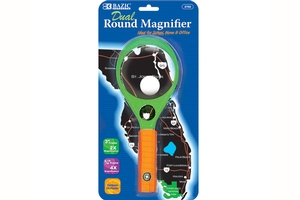 Dual 2x & 4x Handheld Magnifier w ith Compass - 3 inch & 0.75 inch