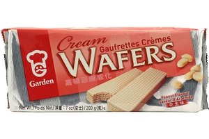 Cream Wafers (Peanut Flavor) - 7oz