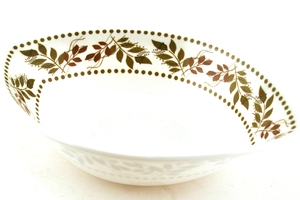 Serving Bowl with Leaf Design - 10.75 x 7.25 x2.5 inch