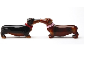 Magnetic Salt and Pepper Shaker Set (A Long Love Affair) - 2 1/2 inch