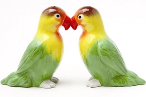 Magnetic Salt and Pepper Shaker Set (Love Birds) - 4 inch