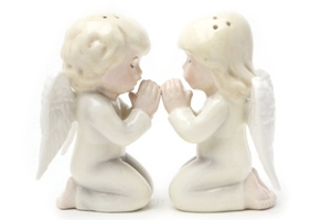 Magnetic Salt and Pepper Shaker Set (Angels) - 3 5/8 inch