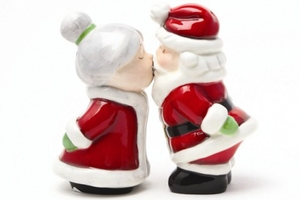 Magnetic Salt and Pepper Shaker Set (Santa and Mrs Claus) - 4 inch