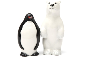 Magnetic Salt and Pepper Shaker Set (Polar Opposites) - 2 1/2 inch
