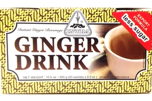 Ginger Drink Less Sugar (Instant Ginger Beverage / 20-ct) - 10.5oz