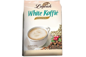 White Koffie 3 in 1 Instant Coffee (Premium Low Acid Coffee Luwak / 20-ct) - 13.5oz