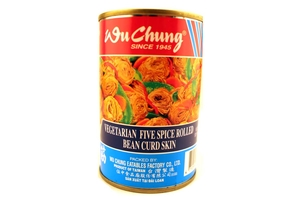 Vegetarian Five Spice Rolled Bean Curd Skin (100% Vegetarian Dish) - 10oz