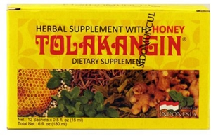 Tolak Angin Dietary Supplement (Herbal Supplement with Honey / 12-ct) - 6 fl oz