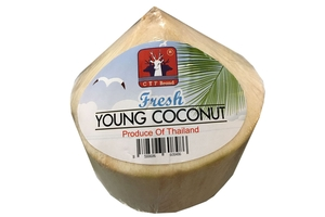 how to cut a fresh young coconut