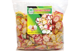 Kerupuk Bawang Star (Star Garlic Crackers) - 8.8oz