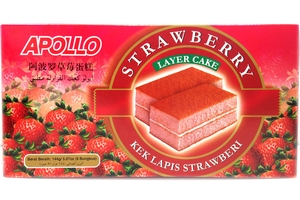 Bolu Lapis Rasa Strawberi (Twins Layer Cake Strawberry Flavor) - 5.07oz