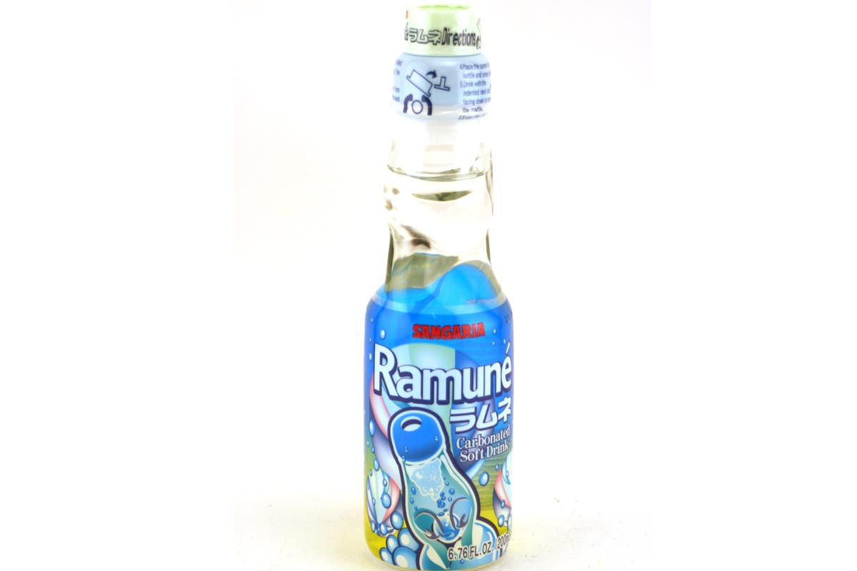 how to open ramune carbonated soft drink