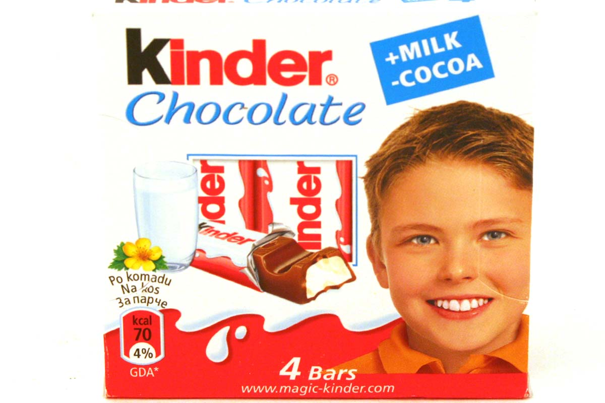 Kinder kinder chocolate milk 4 bars hypen 1 dot 76oz