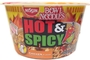 Buy Nissin Instant Hot and Spicy Bowl Noodles (Chicken Flavor) - 3.32oz