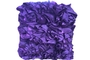 Buy Purple Ruffle Cushion (Purple 12 x 16 x 5)