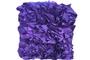 Purple Ruffle Cushion (Purple 12 x 16 x 5)