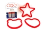 Buy Silicone Egg/Pancake Rings (Star, Hearth and Face) - Set of 3
