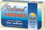 Buy Roland Sardines in Water (Low Sodium) - 4oz