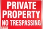 Buy Bazic Private Property No Trespassing Sign (12 inch X 16 inch)