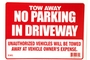 Buy 12 inch X 16 inch Tow Away Sign