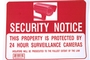 Buy Bazic Security Notice Sign (12 inch X 16 inch)