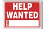 Help Wanted Sign (9 inch X 12 inch)