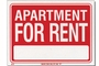 Buy Apartment For Rent Sign (9 inch X 12 inch)